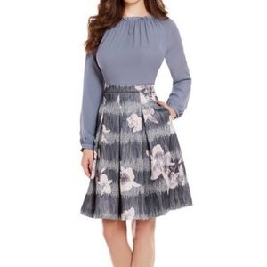 Antonio Melani Whitney Floral A-line Pleated Skirt